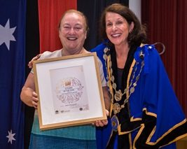 Sister_Carmel_McDonough_RSM_-_Winner_Citizen_of_the_Year_being_presented_cert_by_Mayor.jpg